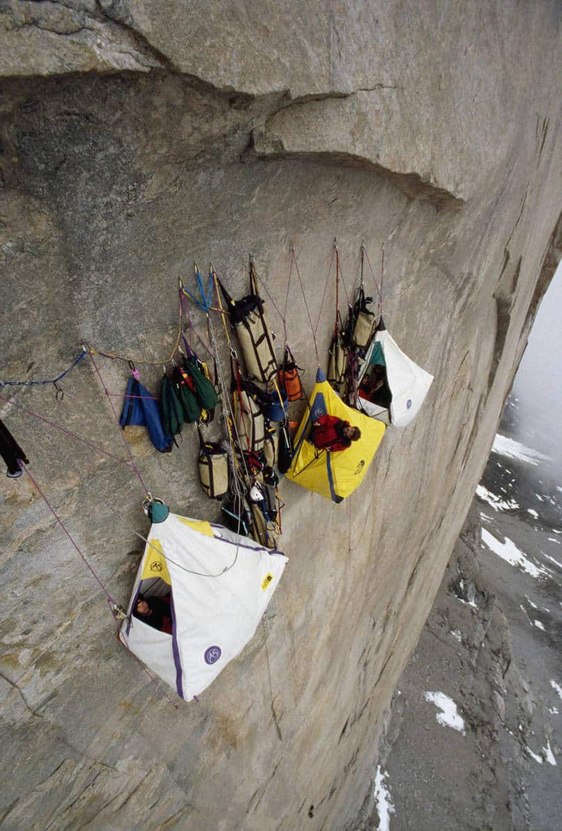 1. Cliff camping.