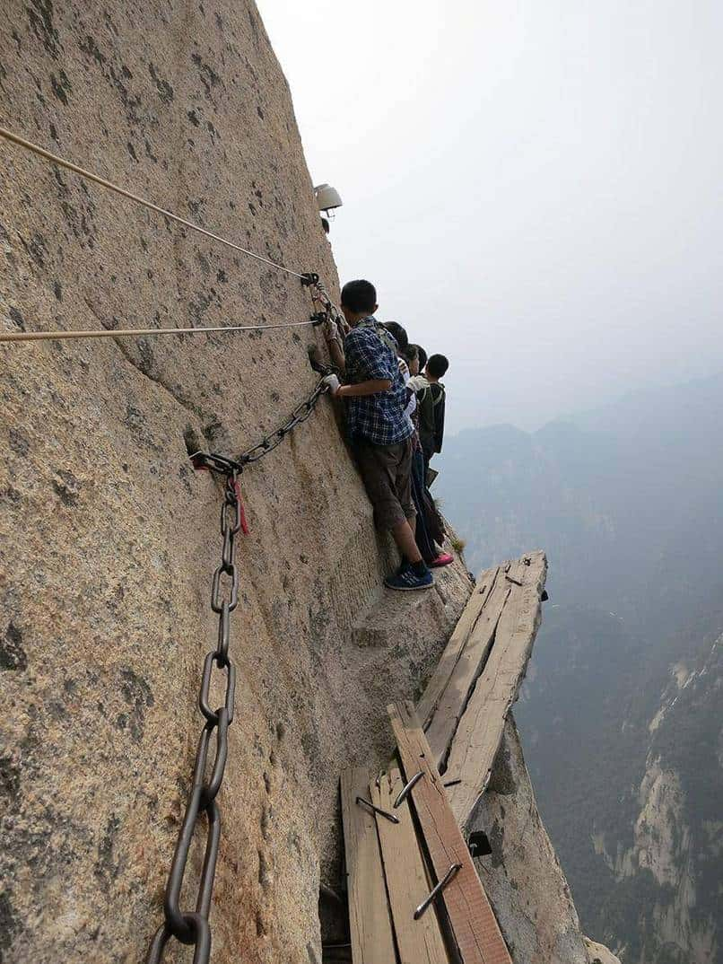 11. Traversing the Death Trail on Mt. Huashan in China