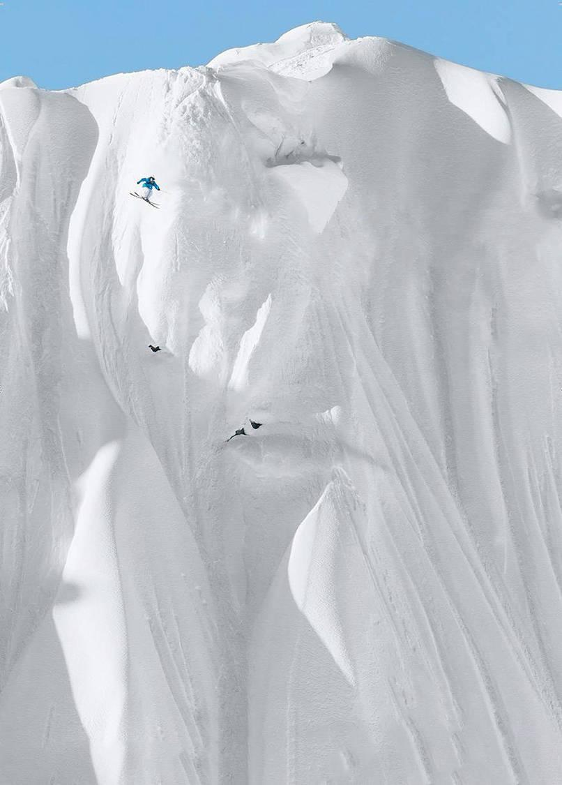 24.This outrageous example of extreme skiing.