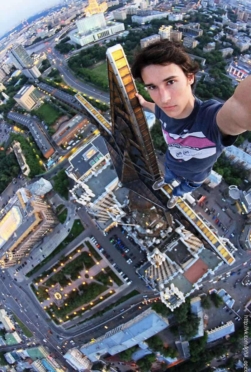 28. Hanging out anywhere with Kirill Oreshkin, also known as Russia's Spiderman