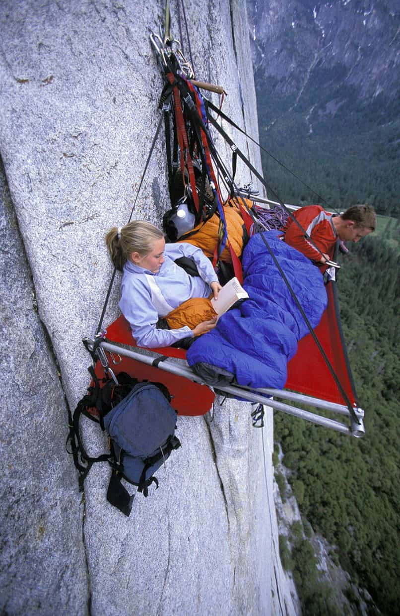 7. Again with the cliff camping!