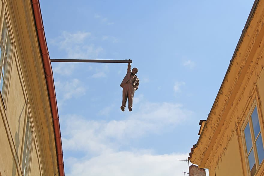 Man Hanging Out, Prague, Czech Republic