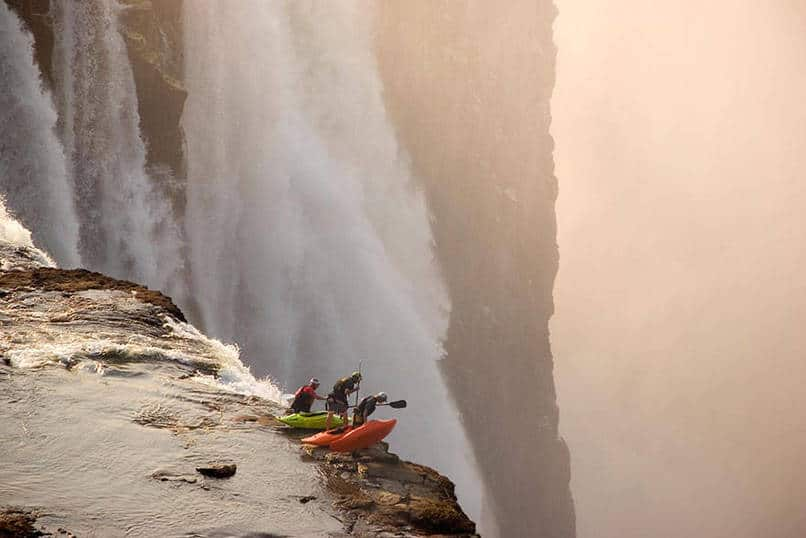 17. Extreme kayaking at Victoria Falls