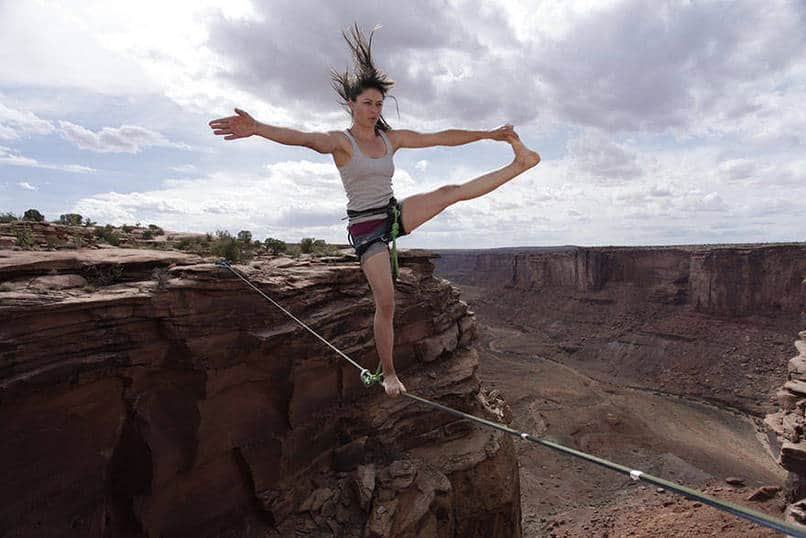 20. Taking slack-lining to a whole new level...