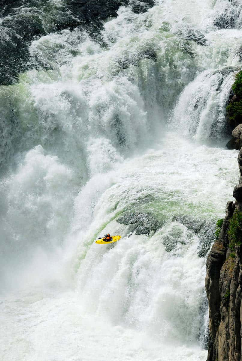 3. White water kayaking in Chile.