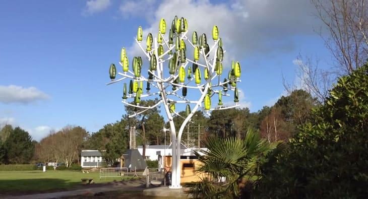 New Wind Tree Generates Power Even When There Is Very
