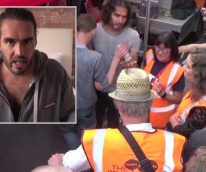 Russell-Brand-called-a-turncoat-and-subject-to-a-tirade-of-abuse-at-the-anti-austerity-protests