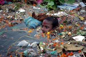 Bathing-in-Polluted-Water