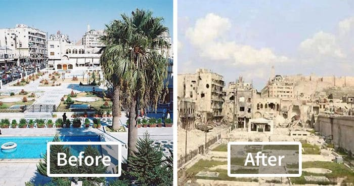 Haunting Before And After Photos Of War Torn Aleppo Syria Video