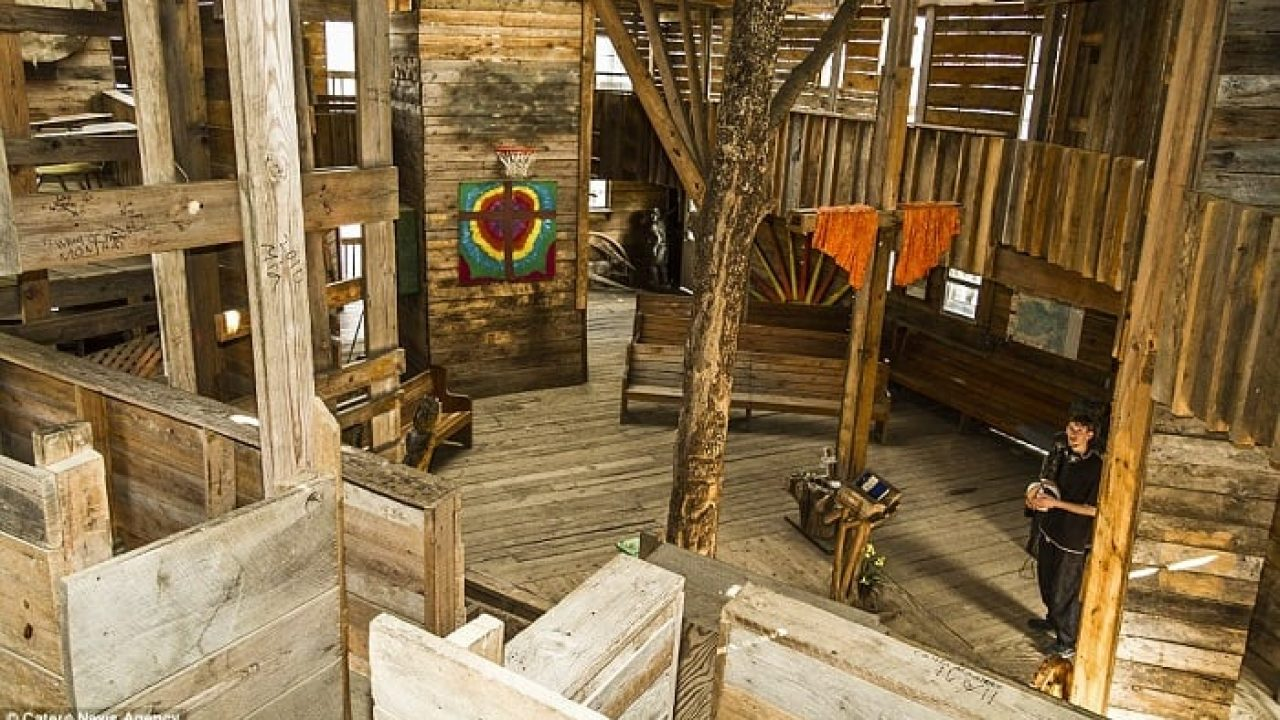 Picture of: Man Spent 15 Years Building The World S Largest Treehouse And It S A Dream Come True Video