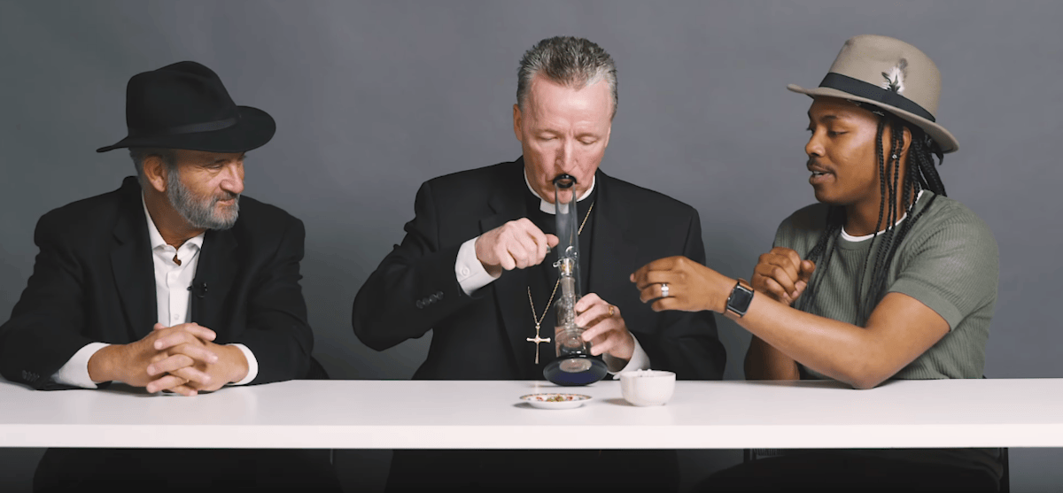What happens when a priest, a rabbi, and an atheist smoke weed together?