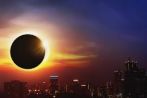 Eclipse Over City