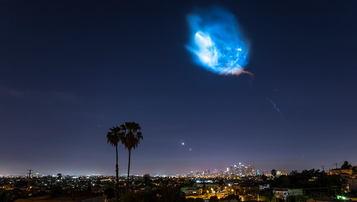 Falcon Rocket Spacex Timelapse Launch Spectacular Lights