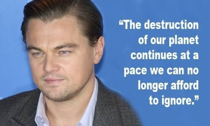 The destruction of our planet continues at a pace we can no longer afford to ignore - Leonardo DiCaprio