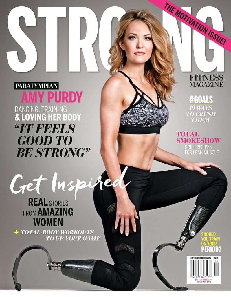 Amy Purdy on a magazine cover