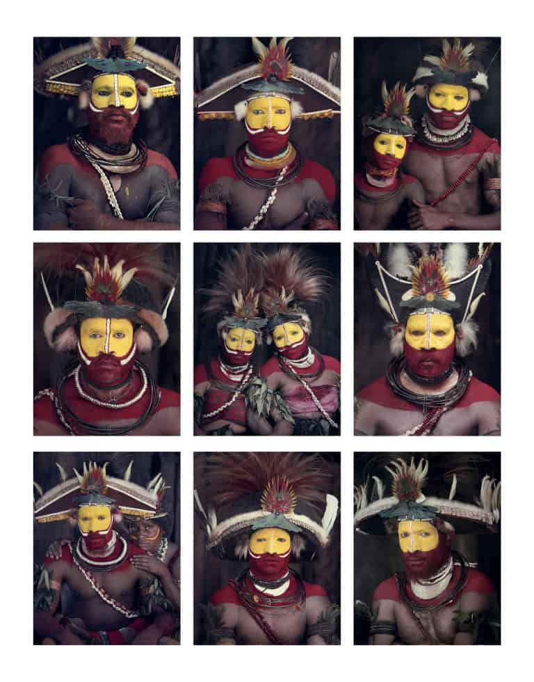 The Huli people, Papua New Guinea