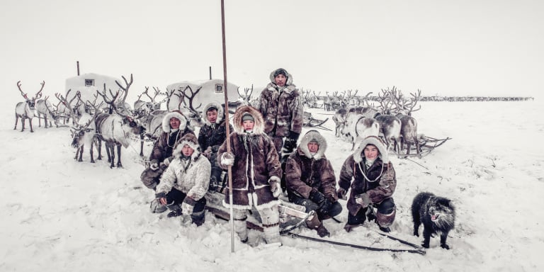The Dolgan people, Siberia