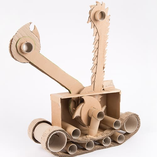 Cardboard model of the Robot Diplodocus Hedge Cutter