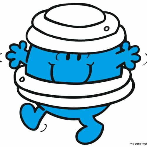 Cartoon Mr Men design of air bandages
