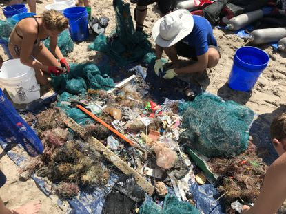 world-largest-beach-cleanup-sifting-through
