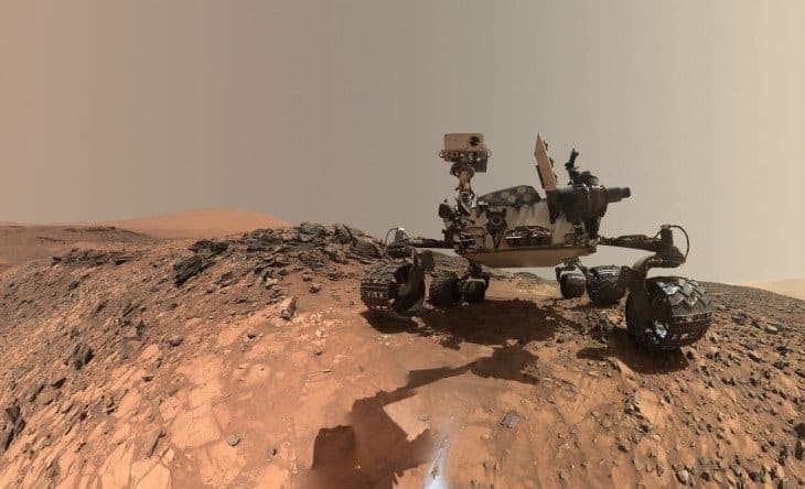 water existed on Mars' surface rover
