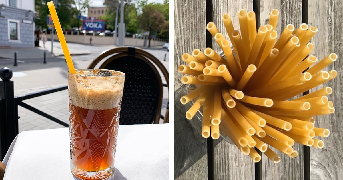 Bars In Italy Are Starting To Use Pasta Straws To Reduce Plastic Waste